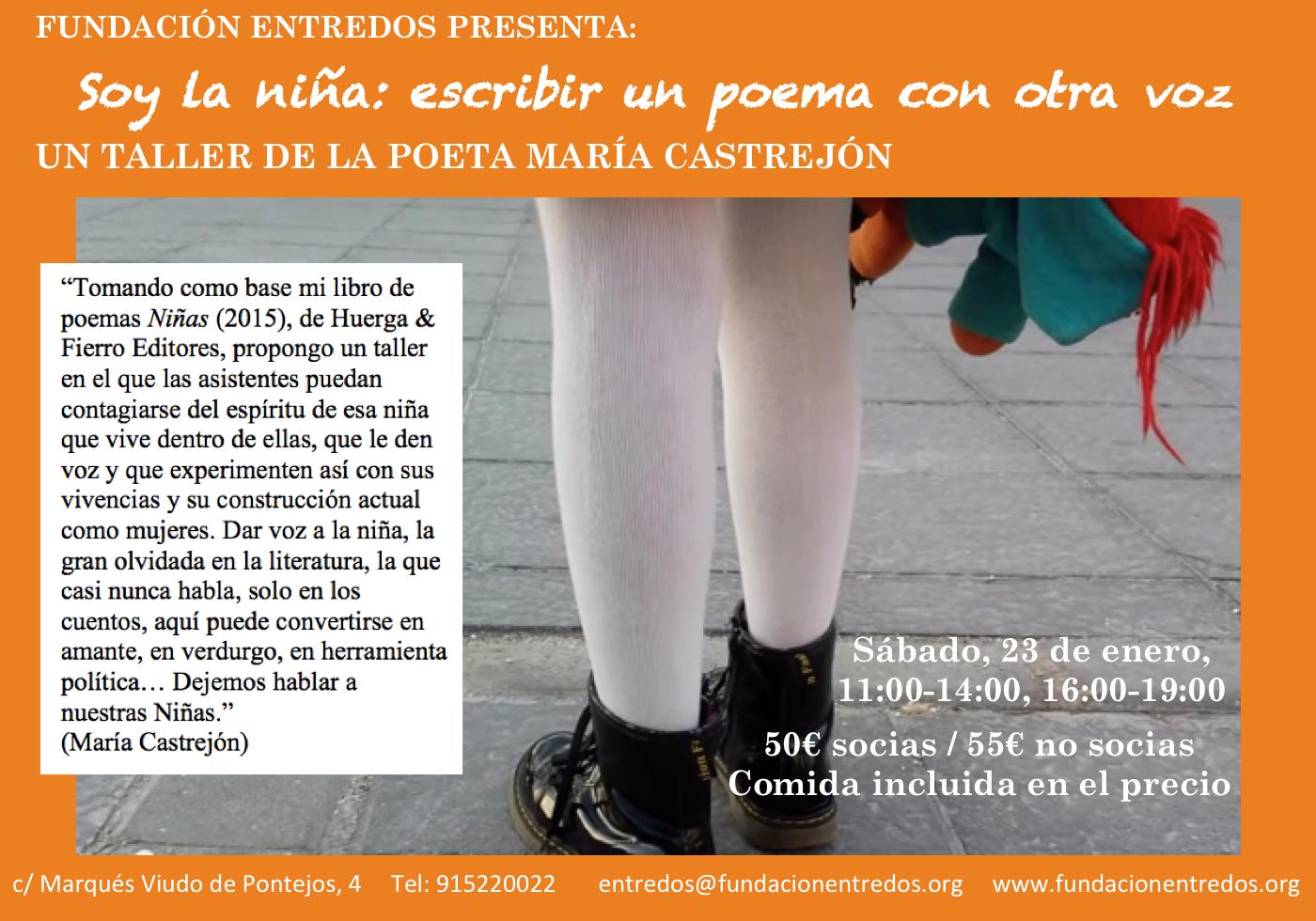 Soy la niña: escribir un poema con otra voz | Fundación Entredós