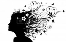7086193-illustration-of-abstract-young-girl-face-silhouette-in-profile-with-long-floral-hair